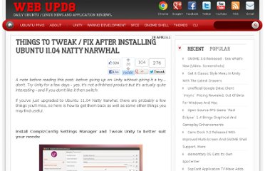 http://www.webupd8.org/2011/04/things-to-tweak-fix-after-installing.html