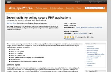http://www.ibm.com/developerworks/opensource/library/os-php-secure-apps/index.html