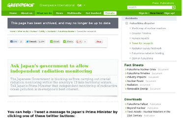 http://www.greenpeace.org/international/en/campaigns/nuclear/safety/accidents/Fukushima-nuclear-disaster/Tweet-for-research/