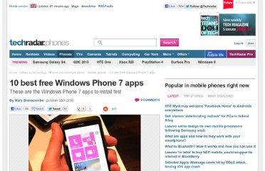 http://www.techradar.com/news/phone-and-communications/mobile-phones/10-best-free-windows-phone-7-apps-903131