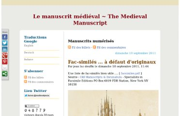 http://blog.pecia.fr/category/Manuscrits-numerises