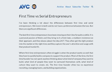 http://www.avc.com/a_vc/2011/05/first-time-vs-serial-entrepreneurs.html