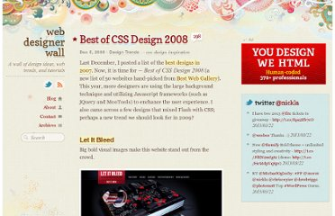 http://webdesignerwall.com/trends/best-of-css-design-2008