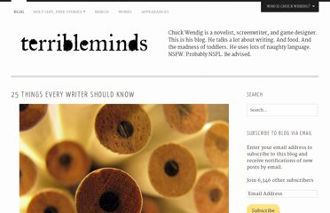 http://terribleminds.com/ramble/2011/04/26/25-things-every-writer-should-know/