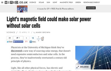 http://www.wired.co.uk/news/archive/2011-04/15/magnetic-solar-cells