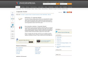 http://www.investopedia.com/terms/c/corporate-raider.asp