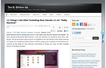 http://www.techdrivein.com/2011/04/12-things-i-did-after-installing-new.html