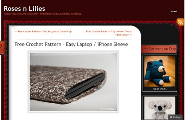 http://rosesnlilies.wordpress.com/2011/01/19/easy-crochet-laptop-sleeve-free-pattern/