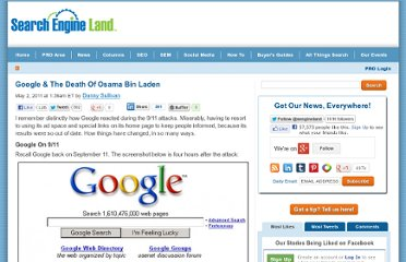 http://searchengineland.com/google-the-death-of-osama-bin-laden-75346