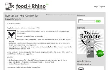 http://www.food4rhino.com/project/horstercamcontrol