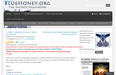 http://bluehoney.org/2011/02/19/giant-list-of-interesting-documentaries/