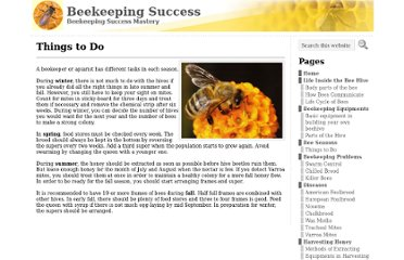 http://www.beekeepingsuccess.com/bee-seasons/things-to-do/