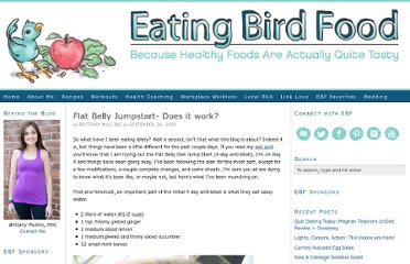 http://www.eatingbirdfood.com/2009/09/flat-belly-jumpstart-does-it-work/