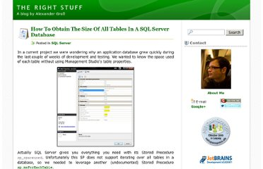 http://therightstuff.de/2007/11/19/How-To-Obtain-The-Size-Of-All-Tables-In-A-SQL-Server-Database.aspx