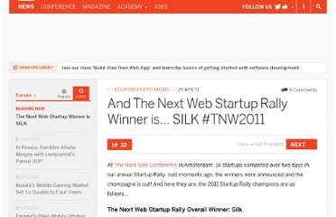 http://thenextweb.com/eu/2011/04/29/and-the-next-web-startup-rally-winner-is-silk-tnw2011/