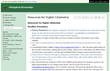 http://cffdigitalcitizenship.wikispaces.com/Resources+for+Digital+Citizenship