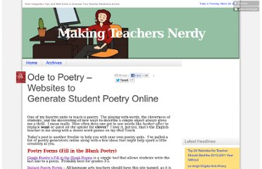 http://mrssmoke.onsugar.com/Ode-Poetry-Websites-Generate-Student-Poetry-Online-3118203