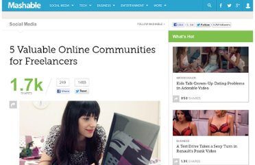 http://mashable.com/2011/05/02/freelancer-communities/