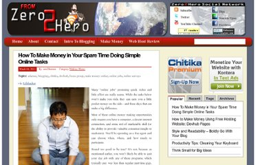 http://zero2heroblogger.com/2011/03/how-to-make-money-in-your-spare-time-doing-simple-online-tasks/