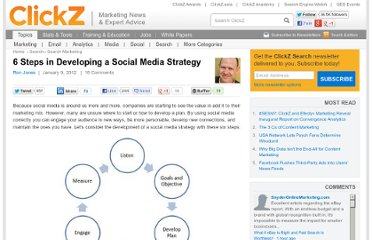 http://www.clickz.com/clickz/column/2046657/steps-developing-social-media-strategy