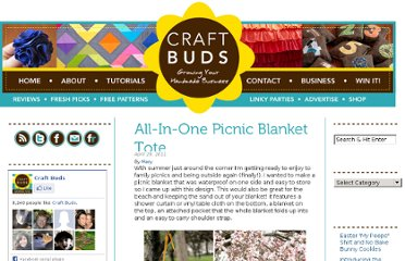 http://www.craftbuds.com/all-in-one-picnic-blanket-tote/