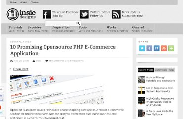 http://blog.insicdesigns.com/2008/11/opensource-php-e-commerce-application/