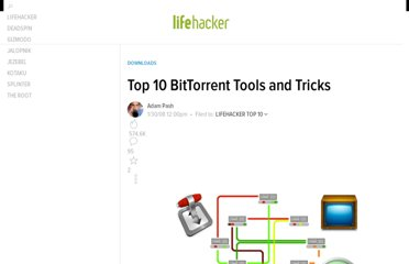 http://lifehacker.com/350405/top-10-bittorrent-tools-and-tricks