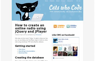 http://www.catswhocode.com/blog/how-to-create-an-online-radio-using-jquery-and-jplayer