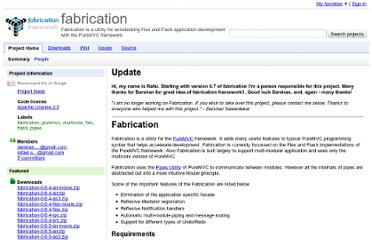 http://code.google.com/p/fabrication/