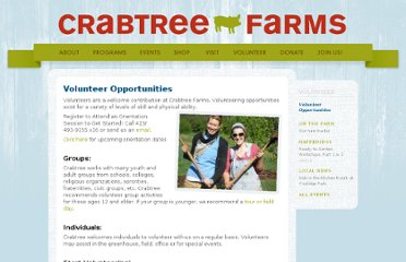 http://crabtreefarms.org/volunteer/opportunities