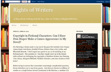 http://www.rightsofwriters.com/2011/04/copyright-in-fictional-characters-can-i.html