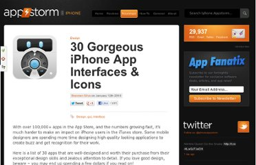 http://iphone.appstorm.net/roundups/design/30-gorgeous-iphone-app-interfaces-icons/