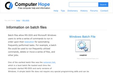 http://www.computerhope.com/batch.htm