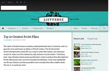 http://listverse.com/2009/12/30/top-10-greatest-soviet-films/