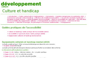http://www.culture.gouv.fr/handicap/guide-intro.html