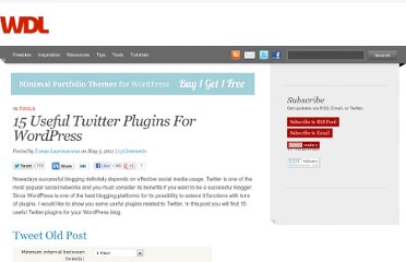 http://webdesignledger.com/tools/15-useful-twitter-plugins-for-wordpress