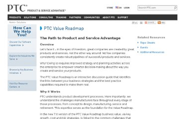 http://www.ptc.com/solutions/value-roadmap/index.htm