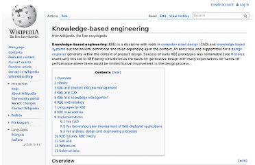 http://en.wikipedia.org/wiki/Knowledge-based_engineering