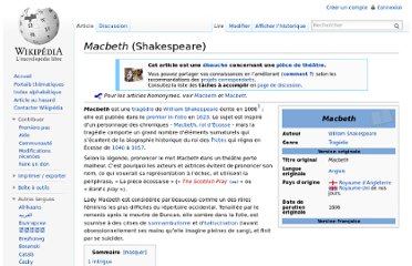 http://fr.wikipedia.org/wiki/Macbeth_(Shakespeare)