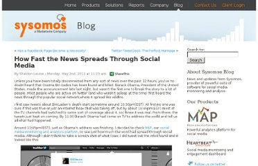 http://blog.sysomos.com/2011/05/02/how-fast-the-news-spreads-through-social-media/