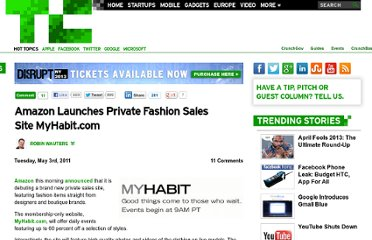 http://techcrunch.com/2011/05/03/amazon-launches-private-fashion-sales-site-myhabit-com/