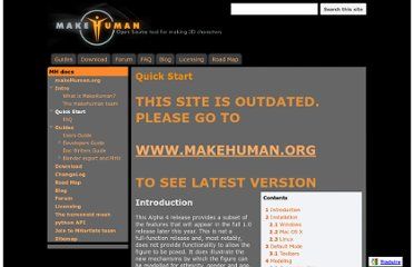 http://sites.google.com/site/makehumandocs/quick-start