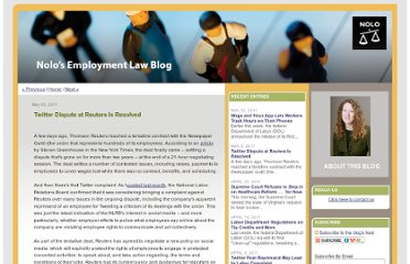 http://www.employmentlegalblawg.com/2011/05/twitter-dispute-at-reuters-is.html