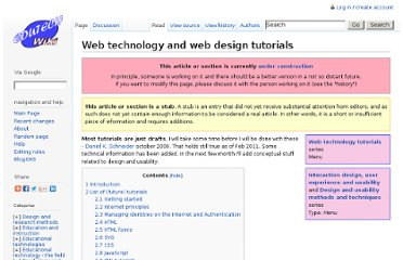 http://edutechwiki.unige.ch/en/Web_technology_and_web_design_tutorials