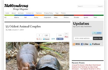 http://thewondrous.com/33-oddest-animal-couples/