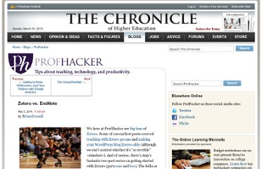 http://chronicle.com/blogs/profhacker/zotero-vs-endnote/33157