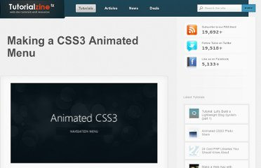 http://tutorialzine.com/2011/05/css3-animated-navigation-menu/