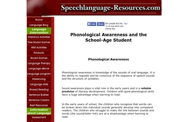 http://www.speechlanguage-resources.com/phonological-awareness.html