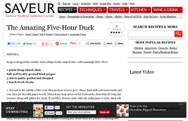http://www.saveur.com/article/Recipes/The-Amazing-Five-Hour-Duck