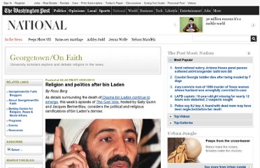 http://www.washingtonpost.com/blogs/georgetown-on-faith/post/religion-and-politics-after-bin-laden/2011/05/03/AFykuQiF_blog.html